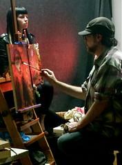 Steven Assael Oil Painting Workshop 2012 (SAS PHOTOS) Tags: newjersey workshop redbank oilpainting artclass artstudio portraitmodel sarahsmith stevenassael colorestartsupplies