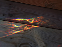 Spectral Light Reflection (Through a Glass of Water) (Christoffer Boman) Tags: light reflection water glass rainbow stair