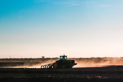 Tractor at Work (Chris Fullmer) Tags: california county sky tractor rice farm dry dirt ag agriculture dust davis bypass yolo vicfazio