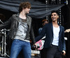 Jay McGuiness and Siva Kaneswaran of The Wanted The final ever performance of record breaking boyband Westlife at Croke Park Dublin, Ireland