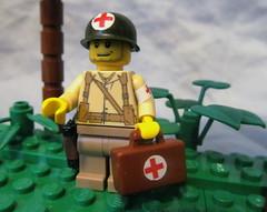 American Medic (℣℩ƙ℩ℵℊ424) Tags: world 2 milan war lego wwii ii american ww2 decal custom medic axis madge allies minifigure brickarms viking424