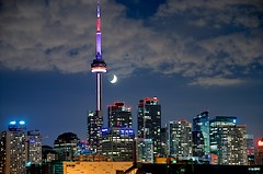 Toronto CN Tower (Moe0) Tags: street old city light sea summer sky urban cloud lake toronto ontario canada west building tower water skyline architecture night america cn island photography photo site nikon long exposure downtown cntower live north landmark national harbourfront nightlife 60 bloor torontos canad 2012 kanada bloorstreet        canad       kanda d7000