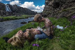Tattoo Artist in Nature. (fridgeirsson) Tags: tattoo canon iso100 iceland artist thingvellir f63 14mm xarrfoss 1160sec