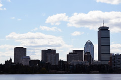 (dycolares) Tags: city travel windows sky usa building water boston river eua