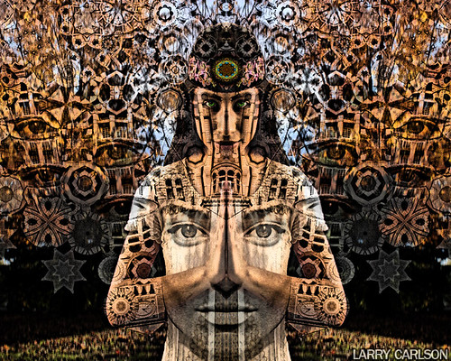 LARRY CARLSON, Guardian of the Four Winds, digital photography, 2012