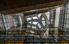 Hallway to knowledge (KC*) Tags: reflection glass architecture sigma 1020 d90