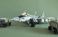 MiG-35 SMT (10) (Aleksander Stein) Tags: west model fighter lego russia near military future upgrade smt fulcrum multirole fictitious mig35