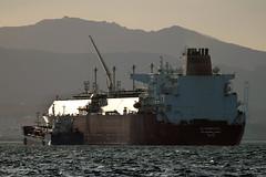 Gibraltar harbour. (Jebel50 images) Tags: ocean sea water harbor spain ship harbour vessel gibraltar straits tanker algerciras alkharaityat