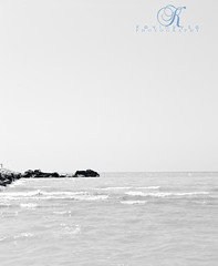 Rock Horizon (Kevin Vyse Photography) Tags: summer blackandwhite lake art beach nature water rocks waves getaway horizon location relaxation 2012 portstanleyontariocanada kvphotography kevinvyse