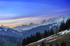 Sunrise at Mont - Blanc (Varvara_R) Tags: morning sky mountain france nature sunrise geotagged naturesfinest massifdumontblanc flickraward coth5 chariotsofartistslevel1 ginegold