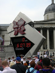 0 days to go countdown clock Trafalgar Square London 2012 Olympics 27th July 2012 14:56.33pm (dennoir) Tags: london clock square go trafalgar july days olympics countdown 27th 2012 145633pm