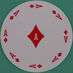Round Playing Card Ace of Diamonds (Leo Reynolds) Tags: playing diamonds canon eos iso100 dummies ace deck card squaredcircle 60mm f80 playingcard zildjian carddeck 40d hpexif 0017sec xleol30x sqset082