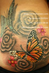 woman butterfly and flower tattoo /Kelebek ve çiçek bayan dövme (taksim beyoğlu dövmeci) Tags: woman art tattoo artist femme models drawings istanbul tattoos taksim examples vrouwen tatouage bayan mannen kiz modèle modelleri dovme çizimler dovmeciler taksimdovme dovmemodelleri dovmesi