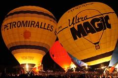 Night Glow (SantiMB.Photos) Tags: barcelona light espaa luz festival night balloons geotagged noche spain catalunya globos esp 2012 igualada anoia cataluna nightglow europeanballoonfestival sonystas geo:lat=4158514760 geo:lon=162821889