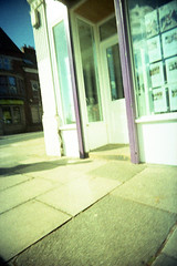 Doorway (Saturated Imagery) Tags: film 35mm lomo xpro lomography crossprocessed saturated colours toycamera wideangle slidefilm doorway uws expiredfilm 22mm vivitarultrawideandslim epsonv500 agphotographic