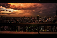 before the night fall (TommyOshima) Tags: leica city sunset summer storm japan night tokyo shinjuku voigtlander 15mm superwideheliar