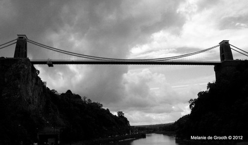Bristol Suspension Bridge in Black and White