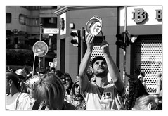 . (Thorsten Strasas) Tags: signs berlin schilder kreuzberg demo deutschland march rally protest streetphotography streetlife demonstration pots rents tor gentrification banners noise hermes kiez reportage kotti transparente kottbusser lrm raising gsw gecekondu schwarzweis mieten verdrngung gentrifizierung strasenfotografie mietenstopp lrmdemo mieterhhungen