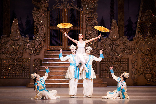 "Iohna Loots as Clara and artists of The Royal Ballet in the Chinese dance in Peter Wrights production of The Nutcracker. The Royal Ballet 2010/11. <a href=""http://www.roh.org.uk/productions/the-nutcracker-by-peter-wright"" rel=""nofollow"">www.roh.org.uk/productions/the-nutcracker-by-peter-wright</a>"