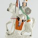 236. Antique Staffordshire Figure on Horseback