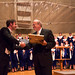 "<b>Homecoming Concert 2012: Weston Noble Award Presentation</b><br/> Photo by Zach Stottler Pictured Above:  Dr. Allen Hightower conductor of the Luther College Nordic Choir congradulates Bruce Tammen after the presentation of the Weston Noble Award.<a href=""http://farm8.static.flickr.com/7272/8074706147_99a3e559ce_o.jpg"" title=""High res"">∝</a>"