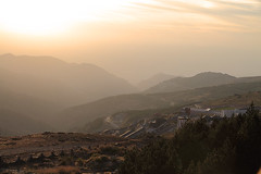Sunset Over the Mountains (katpiggott) Tags: sunset mountains landscape spain andalucia andalusia sierranevada esp guejarsierra