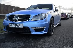 Electric Matte... (ImZaidHamid) Tags: blue black electric mercedes benz al nikon 63 filter thani rims v8 matte amg qatar polarised polarising althani 15665 c63 18105mm worldcars d5100
