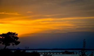 coucher de soleil sur Arcachon...