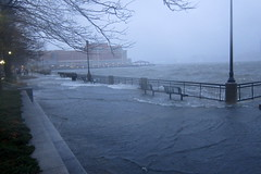 Exchange Place Waterfront during Hurricane Sandy (wallyg) Tags: newjersey flooding jerseycity sandy hurricane nj jc hudsonriver exchangeplace hudsoncounty hurricanesandy exchangeplacewaterfront