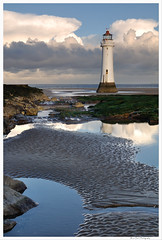 Perch Rock 10 (Brian Gort Wildlife Photography) Tags: new sea england sky cloud lighthouse reflection water rock sunrise reflections nikon brighton cheshire ngc perch nikkor wirral merseyside perchrock nikond90 flickraward flickraward5 flickrawardgallery