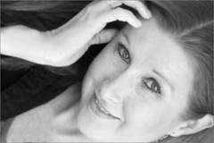 (Cliff Michaels) Tags: portrait bw woman white black girl face photoshop nikon redhead 55200mm d5000 pse9