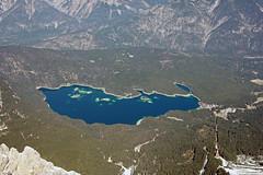 Eibsee (mightymightymatze) Tags: vacation mountain holiday mountains alps berg austria tirol sterreich spring holidays urlaub berge alpen ferien tyrol frhling zugspitze 2014 frhjahr zugspitzarena