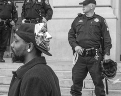 Protest (Jim Watkins Photography) Tags: sanfrancisco california people photography blackwhite streetphotography photojournalism