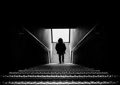 (Magdalena Roeseler) Tags: street people blackandwhite bw white monochrome stairs contrast moments alone fineart streetphotography zug olympus best sw lonely zuiko strassenfotografie omdem5