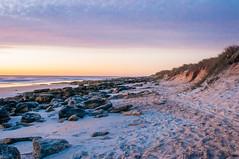 Marineland Morning (corran105) Tags: ocean morning sea sky color film beach water dawn florida rocky atlantic marineland a1a ndfilter vsco