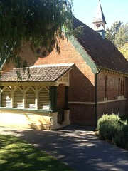 Kangaroo Valley. Arts and Crafts style Anglican Church designed by architect John Horbury Hunt in 1871. About 20 years ahead of its time architecturally . (denisbin) Tags: church photobooth anglican kangaroovalley artsandcrafts