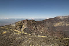 The Bocca Nuova (Derbyshire Harrier) Tags: scale clouds person spring photographer altitude steam gas crater sicily sulphur geology cracks volcanic etna faults 2016 mountetna activevolcano fumaroles boccanuova