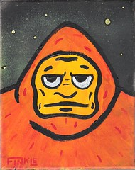003 (Andy Finkle Art) Tags: monster illustration stars cartoon bigfoot sasquatch cryptozoology cryptid