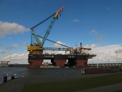 Saipem 7000 (juliank1990) Tags: netherlands big crane offshore vessel gas maintenance oil 7000 eemshaven saipem sscv