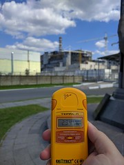 Chernobyl nuclear power plant (justinvandyke) Tags: monument radiation nuclear ukraine disaster soviet sarcophagus biohazard chernobyl geigercounter dosimeter postapocalyptic nuclearpowerplant nuclearreactor exclusionzone nucleardisaster