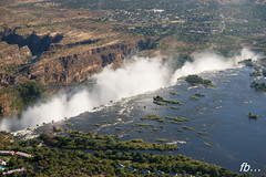 Victoria Falls from above... (Fab2brest) Tags: africa landscape helicopter victoriafalls zambia polariser zambeziriver photographsfromthesky