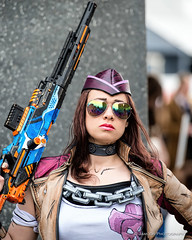 MCM Comic Con London May 2016 (12) (Jamoor) Tags: london hat sunglasses female gun cosplay may streetphotography excel 2016 jamoor nikon70200mm28g mcmcomiccon nikond4s