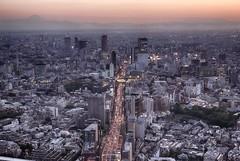 Roppongi Hills (Harry J. Bauer) Tags: street sunset cars tokyo sonnenuntergang autos roppongihills moritower tokio observationdeck aussichtsplatform strase