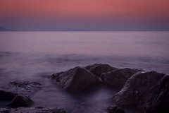 Another Greek Sunset (dslaviero81) Tags: ocean sunset sea holiday seascape nature water digital speed canon lens landscape outdoors photography eos rocks long exposure mediterranean colours smooth magenta cc greece crete 7d shutter l f18 silky lightroom 24105mm