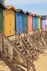 Beach huts at Walton on the Naze (jpotto) Tags: uk beach buildings seaside holidays essex beachhuts sheds waltononthenaze