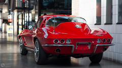 Back to 60's (Romek Rudnicki) Tags: red usa berlin classic cars chevrolet germany muscle curves style corvette legend coupe musclecar classy deutchland remise sportcar amercia stringray