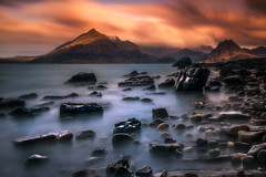 Elgol sunrise. (devlin11) Tags: morning mountain seascape mountains colour skye water sunrise scotland seaside highlands nikon scenery rocks exposure isleofskye magic hills isles tranquil cuillin elgol