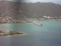 Aerial view of Road Town, Tortola (3scapePhotos) Tags: road travel cruise sea vacation beach island islands boat town ship view aerial virgin beaches tropical british caribbean tortola tropics bvi britishvirginislands