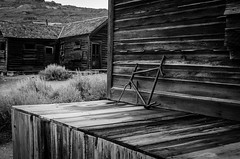 The Things We Leave Behind (world recorder) Tags: park wood bw white house black home bike bicycle town state ghost historic patio frame bodie