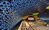 Real Filmreels of Hollywood Hills (Non Paratus) Tags: blue station subway metro platform tunnel ceiling ornament hollywood redline 1735mmf28d metrorail hollywoodandvine filmreels